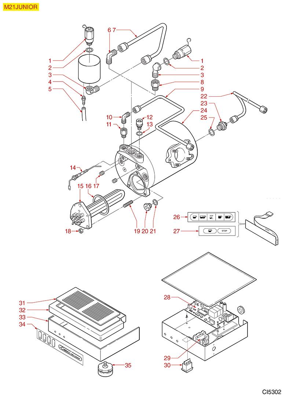 la cimbali yedek par alar. Black Bedroom Furniture Sets. Home Design Ideas